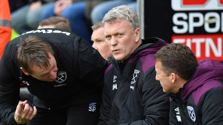 David Moyes' West Ham drew 1-1 at home to Crystal Palace on Tuesday