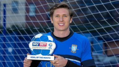 Adam Reach of Sheffield Wednesday wins the Sky Bet Championship Goal of the Month award for December