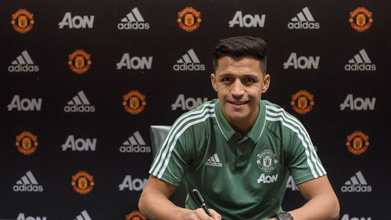 Alexis Sanchez has signed for Manchester United (Photo by Manchester United/Man Utd via Getty Images)