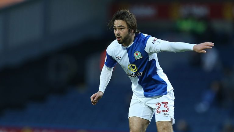 BLACKBURN, ENGLAND - JANUARY 27:  Bradley Dack of Blackburn Rovers in action during the Sky Bet League One match between Blackburn Rovers and Northampton T