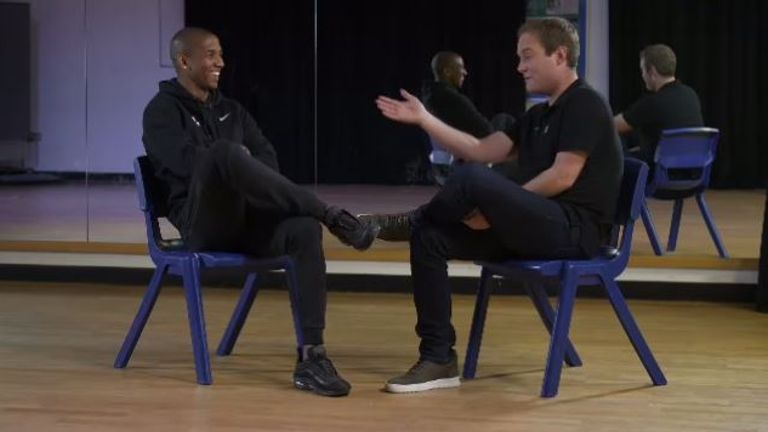 Ashley Young meets Soccer AM's Tubes