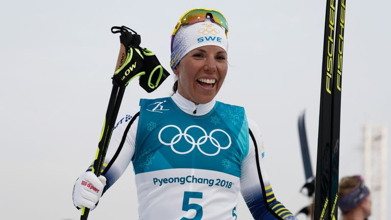 Kalla wins 1st gold, Bjoergen makes history at South Korea Winter Olympics