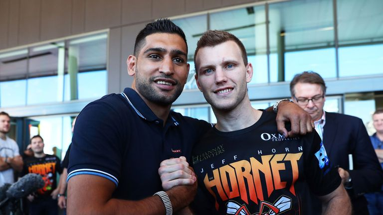 Amir Khan watched Jeff Horn's last defence of his WBO welterweight title