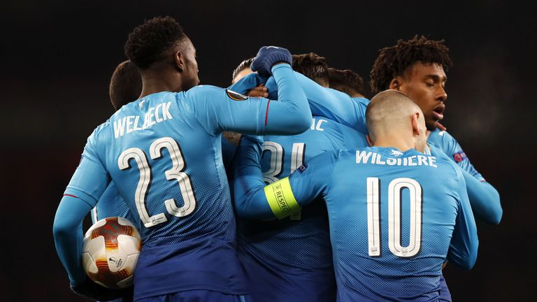 Sead Kolasinac was on target for Arsenal after half-time