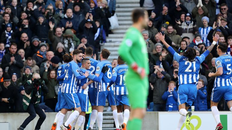 Brighton pile pressure on Wenger with victory