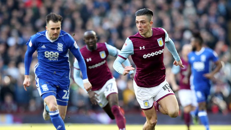 Jack Grealish missed the defeat to Fulham with a calf injury