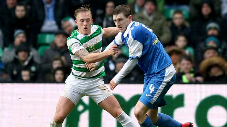 St Johnstone's Blair Alston (R) has signed a new one-year deal at McDiarmid Park