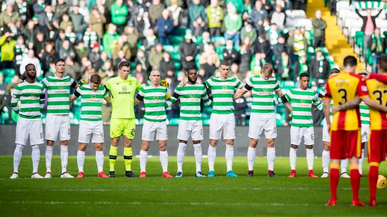 Celtic pay their respects to former midfielder Liam Miller