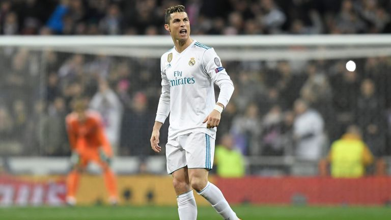 Ronaldo celebrates after equalising from the penalty spot