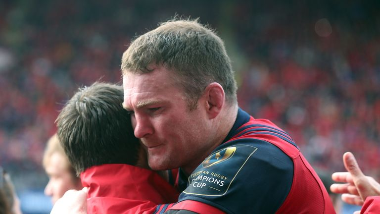 The week after Foley's death was highly emotional for Munster players past and present