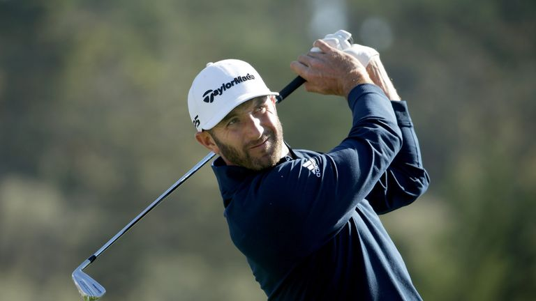 Johnson was chasing a third victory at Pebble Beach
