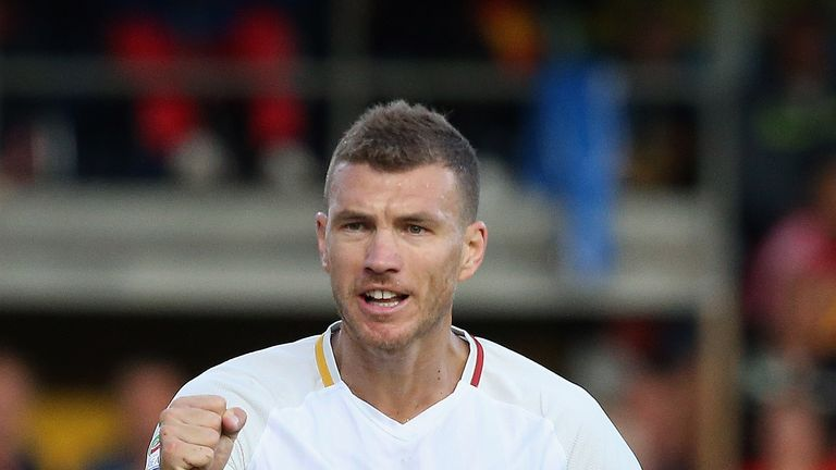 Roma would have considered moves for Olivier Giroud and Michy Batshauyi if they had sold Edin Dzeko (pictured)