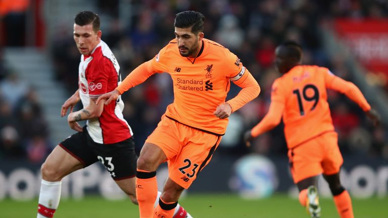 Emre Can has travelled with the squad despite his one-game suspension