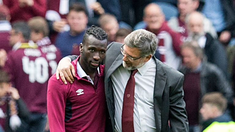 Hearts have vowed to apologise to Goncalves, pictured here with manager Craig Levein
