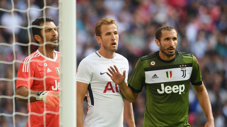 Harry Kane is looking forward to testing himself against Giorgio Chiellini