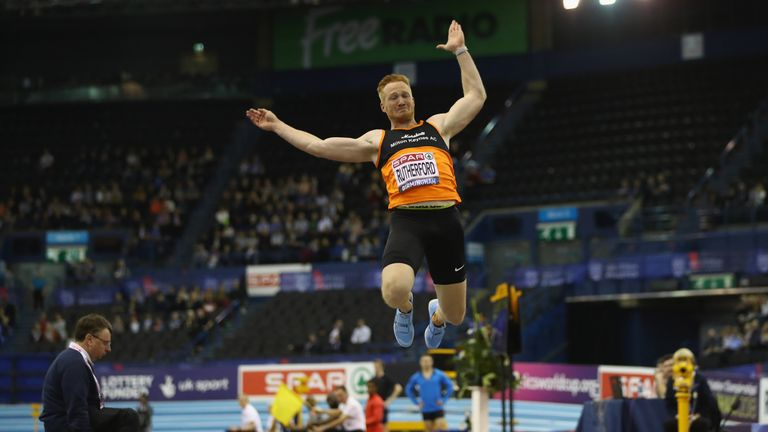 Rutherford won the long jump at the British Indoor Championships last weekend