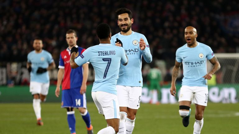 Ilkay Gundogan scored his second and City's fourth of the night with a stunning strike