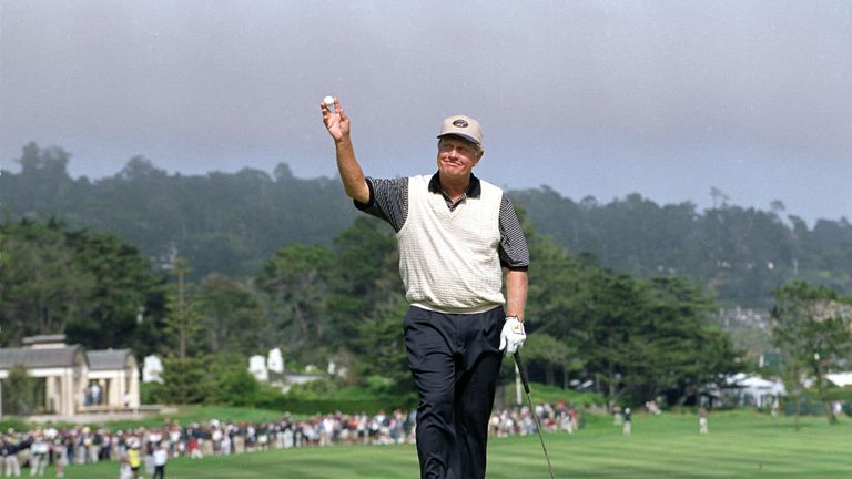Nicklaus made his last Pebble Beach appearance at the 2000 US Open