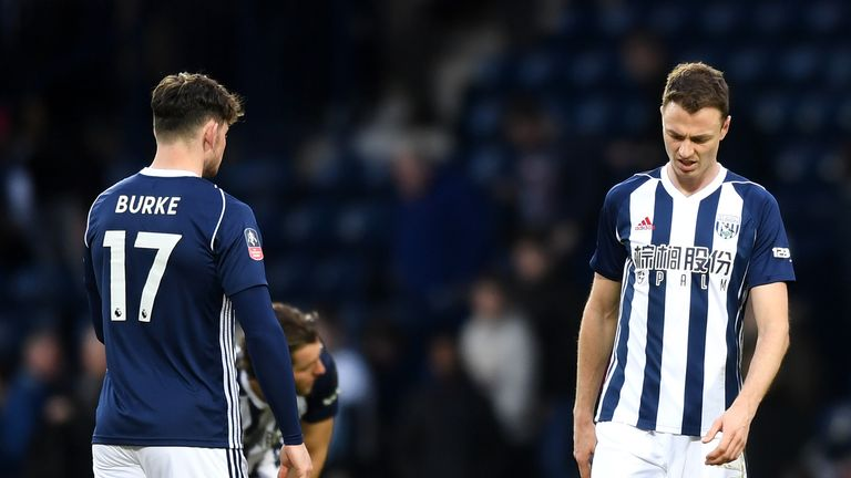 Jonny Evans had the captain's armband taken from him for West Brom's game against Southampton