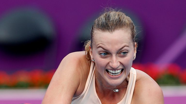 Petra Kvitova came from a set down to win in Doha