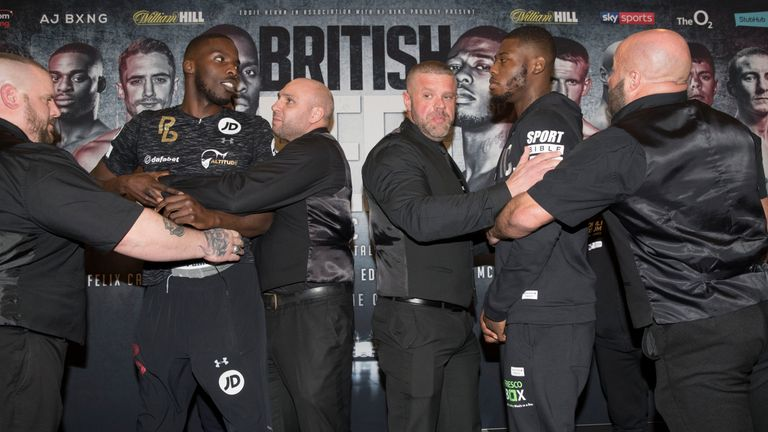 Okolie and Chamberlain clashed before 'British Beef'