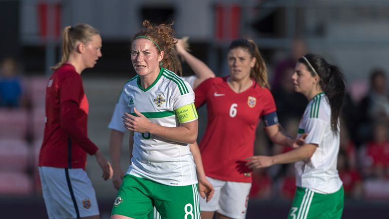 Marissa Callaghan is the captain of the Northern Ireland women's side