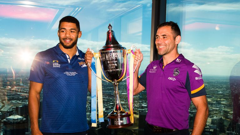 Kallum Watkins and Cameron Smith were in good spirits this week ahead of Friday's clash