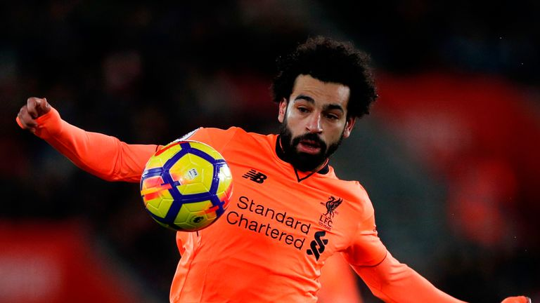 Mohamed Salah was on target for Liverpool against Southampton