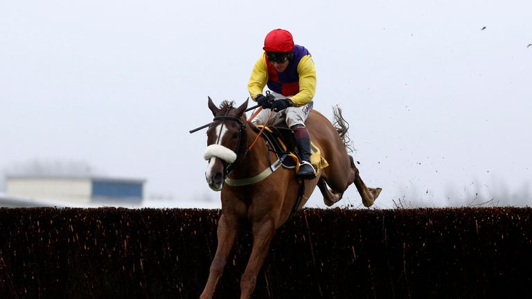Native River ridden by Richard Johnson clear the last fence