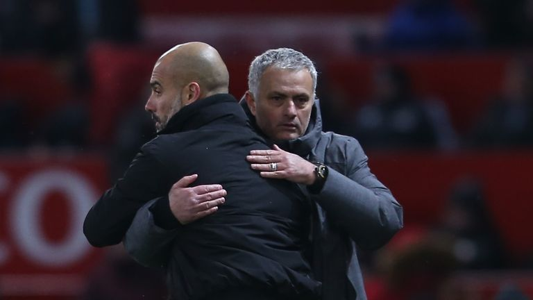 Mourinho says he is having to settle for second best behind rival Pep Guardiola