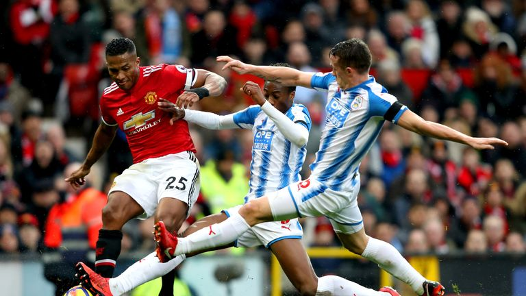 Huddersfield lost 2-0 at Old Trafford on Saturday