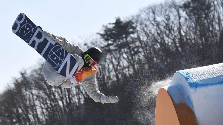 A perfect backside triple gave Gerard the victory in the men's snowboarding slopestyle