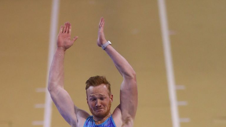 Greg Rutherford finished fourth at the Muller Indoor Grand Prix in Glasgow