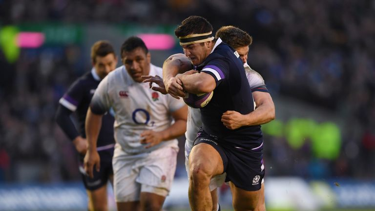 Hooker Stuart McInally was one of the stars for Scotland as they beat England