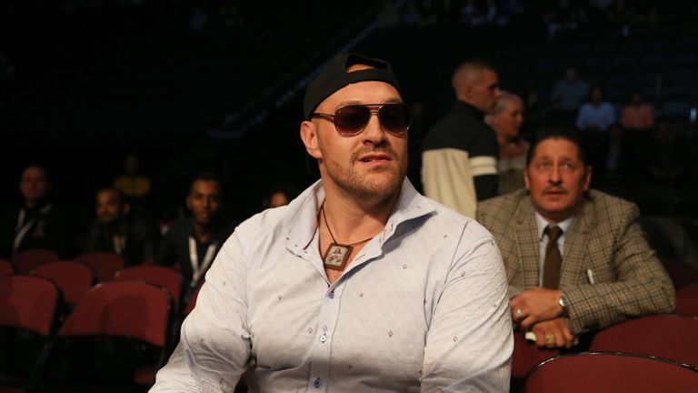 Tyson Fury is training towards a comeback fight this year