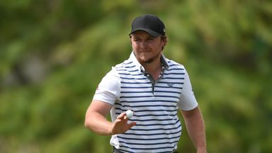 Eddie Pepperell during the final round of the Qatar Masters where he claimed a first-ever European Tour victory