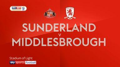 Sunderland 3-3 Middlesbrough