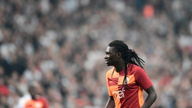 Bafetimbi Gomis collapsed during Galatasaray's game on Sunday