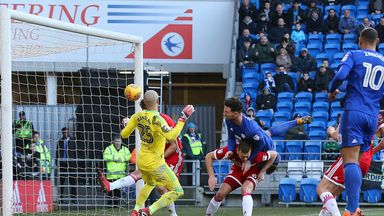 Sean Morrison scores for Cardiff City against Middlesbrough.