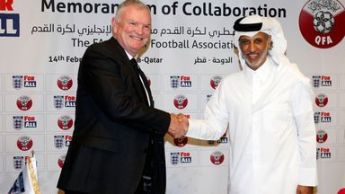 fifa live scores - Greg Clarke says FA will promote LGBT inclusion with Qatar and other foreign FAs