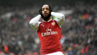 fifa live scores - Arsenal striker Alexandre Lacazette out for up to six weeks after knee surgery