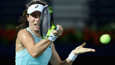 Joanna Konta lost out in a three-set thriller on Wednesday