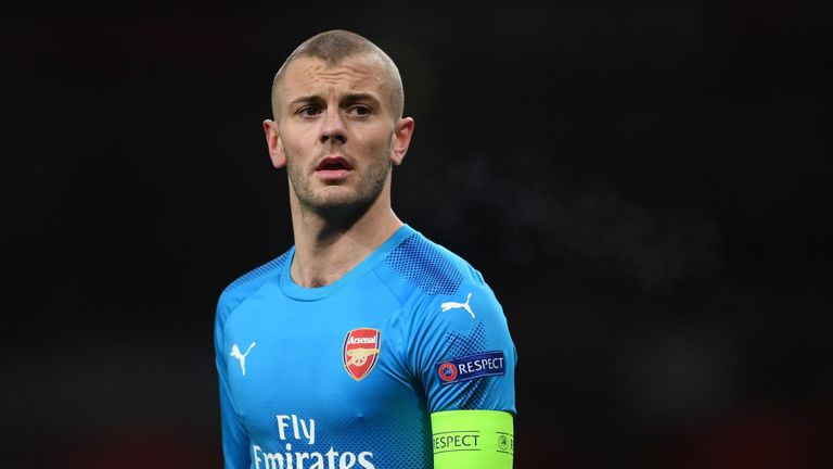Jack Wilshere of Arsenal during UEFA Europa League Round of 32 match between Arsenal and Ostersunds FK at the Emirates Stadium