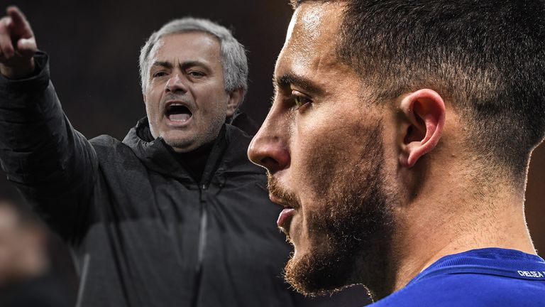 How does Jose Mourinho plan to stop Eden Hazard at Old Trafford?