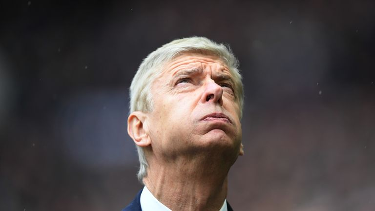 Arsene Wenger prior to the North London derby between Tottenham Hotspur and Arsenal