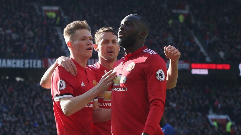 during the Premier League match between Manchester United and Chelsea at Old Trafford on February 25, 2018 in Manchester, England.
