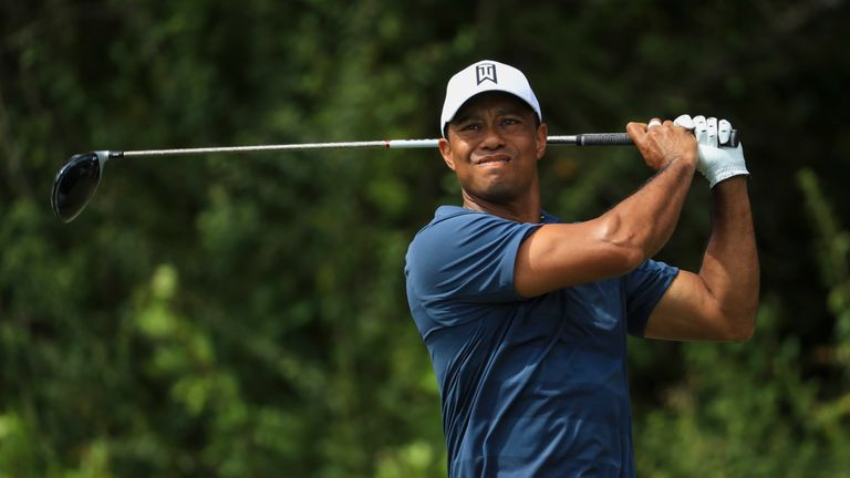 PALM BEACH GARDENS, FL - FEBRUARY 24: Tiger Woods plays his tee shot on the third hole during the third round of the Honda Classic at PGA National Resort a