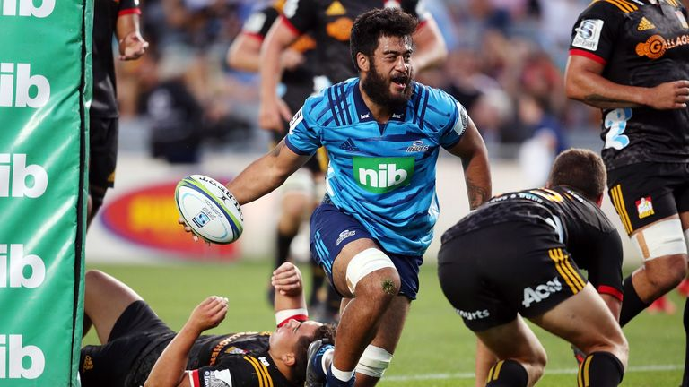 Blues' No. 8 Akira Ioane is growing in stature with every game