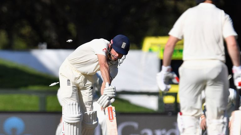 Alastair Cook is bowled by Trent Boult for two on day one of the second Test