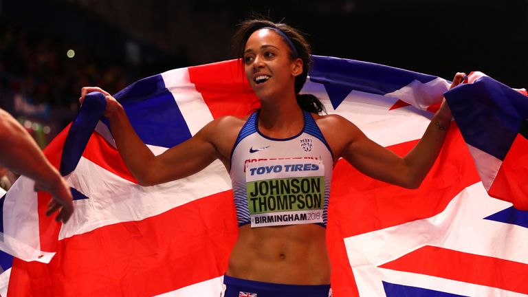 Katarina Johnson-Thompson claimed gold for Great Britain in Birmingham